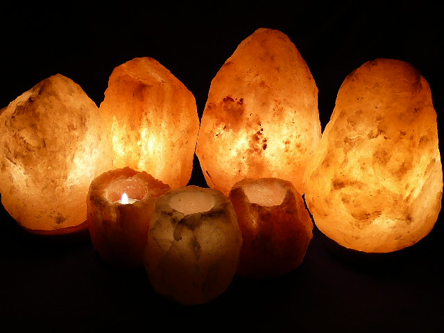 SAFE HIMALAYAN ROCK SALT LAMP LARGE PACK - 7 ROCK SALT UNITS - AS/NZS 60598.2.4