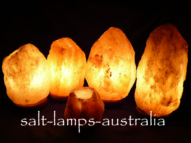 Salt Lamp Mega Home Pack - 2 x 2-3kg, 1 x 3-4kg, 1 x 4-6kg, 1 x Tea Light FREE Shippping - Metro/Regional