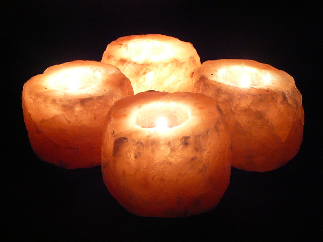 Himalayan Salt Tea Lights x 4 - Large 1.25-1.50kg ($7.50 each)