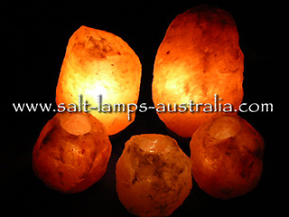 Salt Lamp Small Home Pack - 2 x 2-3kg Lamps & 3 x Tea Lights FREE Shipping