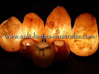 Salt Lamp Large Home Pack #3 - 2 x 2-3kg, 2 x 4-6kg, 3 Tea Lights