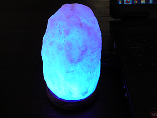 Salt Lamps Blue : USB Natural Salt Lamp Changes Colour 12cm High - USD 18.95 : Salt Lamps Australia, Himalayan Salt ...